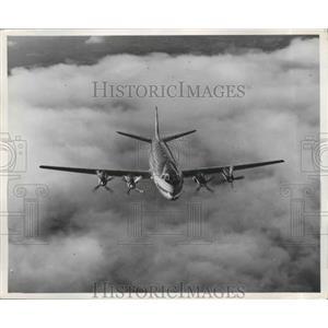 1955 Press Photo Frans Cessna Plane - nef65023