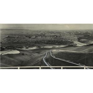 1933 Press Photo Aerial view of Lewiston Spiral Grade - spa51745