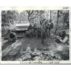 1974 Press Photo The Banshee Motorcycle Club of New Orleans gets together.