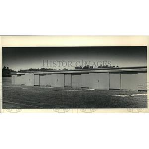 1987 Press Photo Airplane Hangar in the Town of Cedarburg, Wisconsin - mja65559