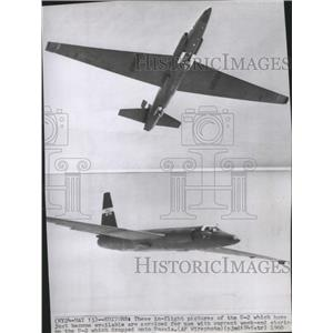 1960 Press Photo In-flight pictures of the U-2- US Military Spy Plane - spa74376