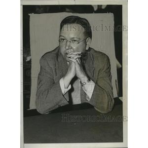 1934 Press Photo Carl Dickey Testifies in House Nazi Investigating Committee