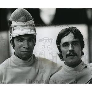 1976 Press Photo Pedro Barcello and Don Koser Olympic fencing hopefuls