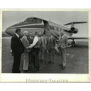 1982 Press Photo Members of Competitive Wisconsin leave Milwaukee to Washington