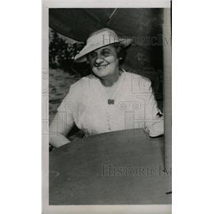 1938 Press Photo Mrs Christy Mathewson Player Window - RRW74447