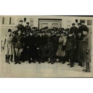 1918 Press Photo Duke of Devonshir Governor of Canada Inspects Military Hospital
