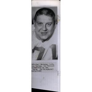 1963 Press Photo Detroit Lions Tackle Alex Karras - RRX39019