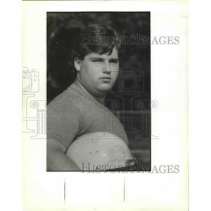 1989 Press Photo St. Bernard High School - David Barney, Football Player
