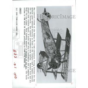 1980 Press Photo German Fokker Dr. I/Aircraft/Plane - RRX93647