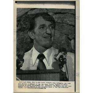 1974 Press Photo San Diego, California-New Padre manager, John McNamara.