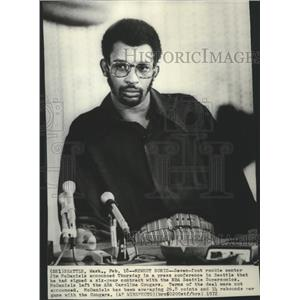 1972 Press Photo Seattle Supersonic Center Basketballer Jim McDaniels
