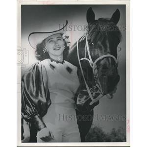 1961 Press Photo Naomi & Sparky Trick Rider, Fat Stock Show - hca04116