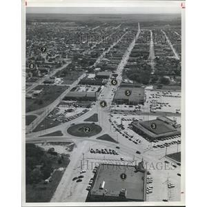 1961 Press Photo Aerial View of Baytown Texas - hca09464