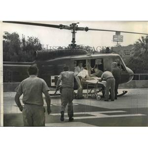 Press Photo Air ambulance used to transport patients faster in hospitals