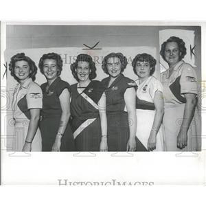 1949 Press Photo Bowlers Who Led Detroit Elimination