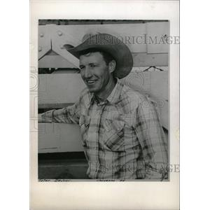 1960 Press Photo Tater Decker American Rodeo Cowboy - RRW98233