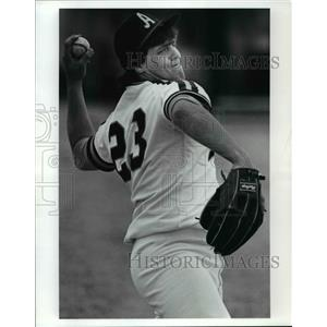 1991 Press Photo Bobby Kovachick, Baseball Player of John Adams High School