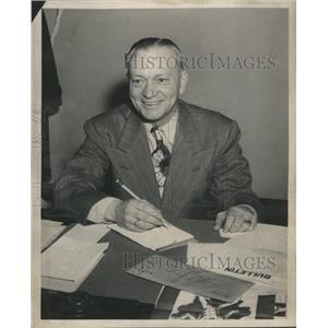 1949 Press Photo Paul Lohmenn Athletic commissioner IL