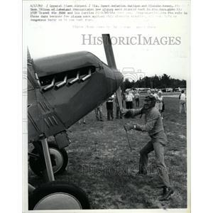 1982 Press Photo Dean Tilton Lakeland Starts Travel Air