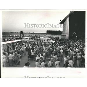 1988 Press Photo Midway Airlines Taste of Midway Party