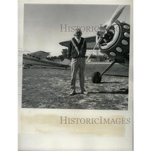 1973 Press Photo John Duff Rockledge Cessna Airplane