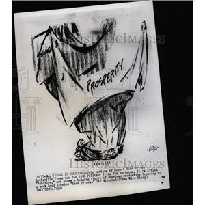 1956 Press Photo Robert York's Achilles Cartoon - RRX64875