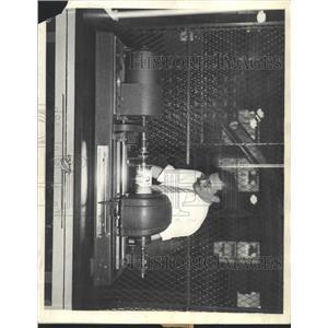 1934 Press Photo Denver Post Worker Sending Wirephoto - RRX92797