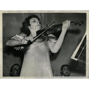 1937 Press Photo Daisy Kennedy Will Lead Orchestra