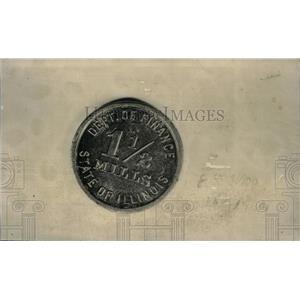 1937 Press Photo Illinois state tax token - RRX43809