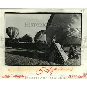1981 Press Photo Start of Third Annual Hammond Hot Air Balloon Festival
