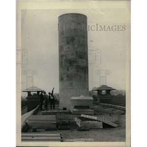 1927 Press Photo Scientist test wind pressure US Stack - RRX72343