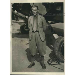 1930 Press Photo Capt.Eddie Brooks of Colorado voted the Safest Flyer in America