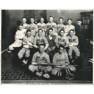 1922 Press Photo Crew-Air Baseball Team, Bissant Winter Park League Champions