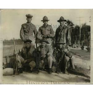 1924 Press Photo The US Navy rifle team lost to Argentine Rifle Team - nem49974