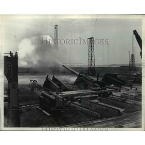 1938 Press Photo Firing of 16MM gun during a gun test at Naval Proving grounds