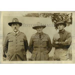 1923 Press Photo Col Andre Begaud, Lt James Pos & Lt Van Spreekens - nem52429