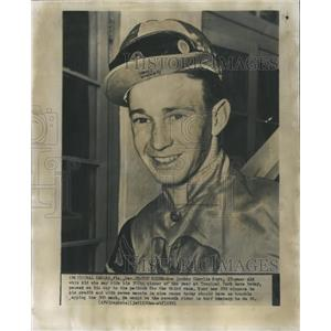 1951 Press Photo Charlie Burr Jockey at Age 17 - RRQ04011
