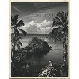 1953 Press Photo Jamaica's Blue Hole is one of famous beauty spots - mjb98506