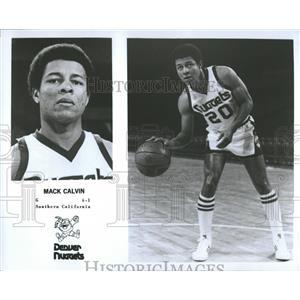 1977 Press Photo Mack Calvin,Denver Nuggets,guard - RRQ20323