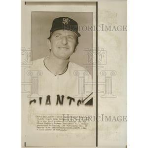 1972 Press Photo John McNamara San Diego Padres - RRQ37483