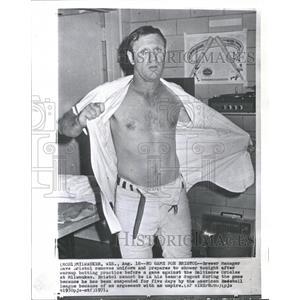 1971 Press Photo DAVE BRISTOL MAJOR LEAGUE BASEBALL - RRQ53553