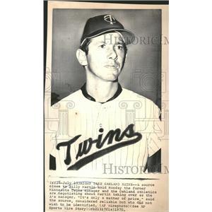 1970 Press Photo Billy Martin former Minnesota Twins manager Oakland Athletics