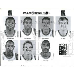 Press Photo Phoenix Suns Basketball Team Andrew land - RRQ12995