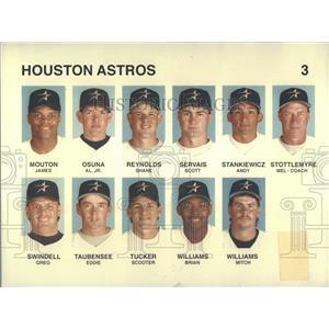 Press Photo Houston Astros Mouton James Taubensee Eddie - RRQ38717