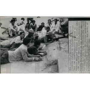 1945 Press Photo Civilians Hit Dirt Bullets Streets - RRX63735