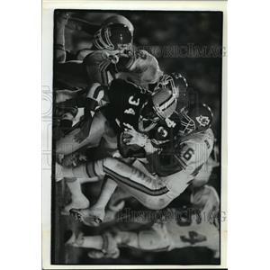 1992 Press Photo Green Bay Packers - Edgar Bennett, Bennie Thompson - mjt00231