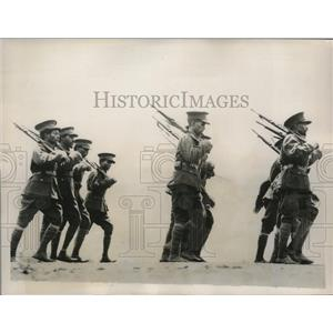 1935 Press Photo  Imperial Guard of Ethiopian Army march in Ogaden Parade