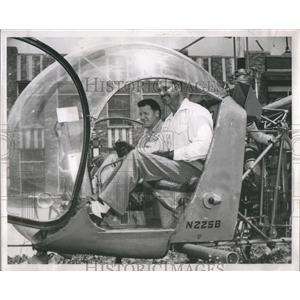 1951 Press Photo Albert H. Luje Robert Lumann Engineers