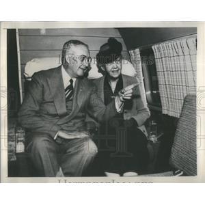 1948 Press Photo Glenn Martin Pioneer Airman Plane Manufacturer MrsMinta Martin