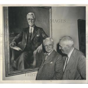 1945 Press Photo Dr. Ludvig Hektoen & Dr. Anton J. Carlson